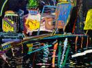 (detail) Daniel Herr, White Nights, 60 x 60 inches, oil on canvas  (courtesy of