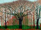 (detail) David Hockney, Bigger Trees near Warter, 2007, oil on canvas, 40′ x 15′