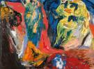Asger Jorn, Green Language, 1962, oil on canvas, 23.6 x 28.8 inches (courtesy of
