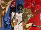 (detail) Jacob Lawrence, Ordeal of Alice, 1963, egg tempera on hardboard, 24 x 2