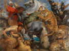 Peter Paul Rubens, Tiger, Lion and Leopard Hunt, 1616, oil on canvas. 256 x 324.