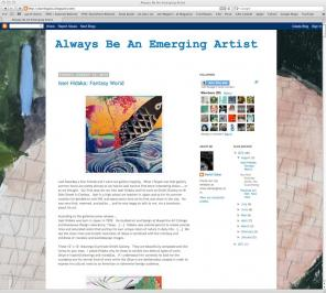 Always Be an Emerging Artist art blog