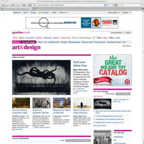 The Guardian newspaper Art & Design section