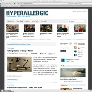 Hyperallergic art blog