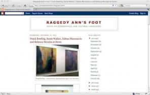 Raggedy Ann's Foot art blog