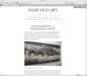 Same Old Art blog