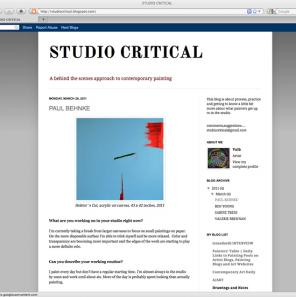 Studio Critical art blog