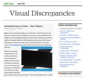 Visual Discrepancies blog