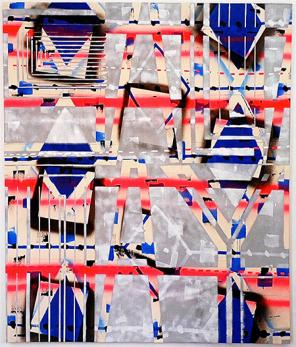 John Phillip Abbott, Salad Days, 2012, acrylic, spray paint, and ballpoint pen o