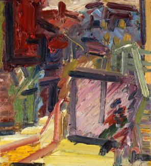 Frank Auerbach, Next Door II, 2012, oil on board, 50.8 x 45.7 cm (courtesy of Ma