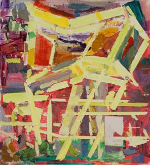 Thomas Berding, Watchtower, 24 x 22 inches, oil on canvas, 2013 (courtesy of the