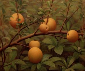 Brett Bigbee, Quince, 2000-01, Oil on canvas, 14-1/4 x 17-1/4 inches (courtesy o