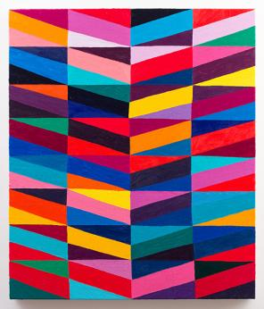 Todd Chilton, Ribbons, 2012. oil on linen, 27 x 23 inches (courtesy of Feature,