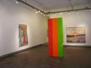 Installation view, Color and Edge at Sideshow Gallery, New York (source: Piri Ha