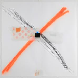 Craig Drennen, Painter D, 2011 graphite, acrylic, oil, alkyd, spray paint on pap