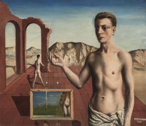 Paul Delvaux, Le récitant, 1937, oil on canvas, 70 by 80 cm © Paul Delvaux Found