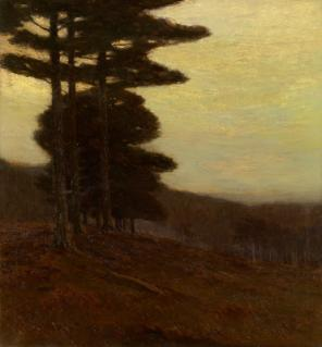 Charles Warren Eaton, Forest Edge, 1904, oil on canvas, 30 × 28 inches, Saginaw