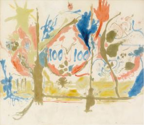 Helen Frankenthaler, Eden, 1956, oil on canvas 103 x 117 inches (© 2013 Estate o