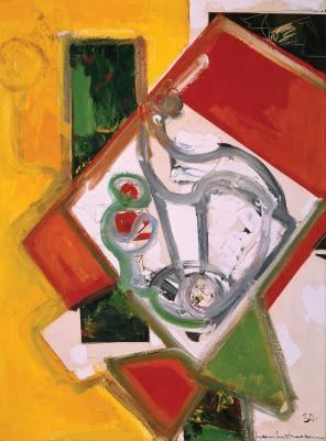 Hans Hofmann, Fruit Bowl Version 6, 1950, oil on canvas, 48 x 36 inches (collect