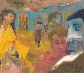 Jess, Feignting Spell, 1954, oil on canvas, 42 x 48 inches (collection of the Cr