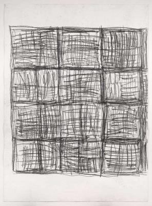 Untitled 1995, Linda Karshan, pencil on paper, collection of the Courtauld Galle