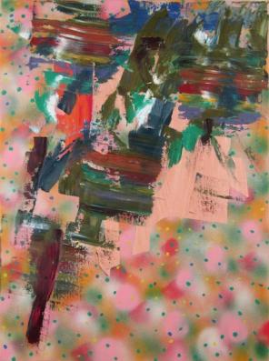 Todd Kelly, Untitled Abstract Painting 17, 2012, oil, spray paint on canvas, 24