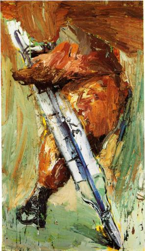 Dieter Krieg, Untitled, 1985, 105 x 61 inches (chicken leg) (collection of the a