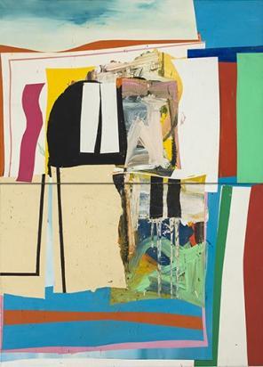 Alfred Leslie, Lake Front Property, 1962, oil on canvas, 11'h x 8'w (courtesy Hi