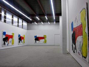 Installation view, Eddie Martinez: Matador Paintings (photo: Hyperallergic, cour