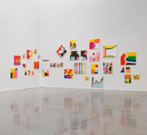 Installation View: Andrew Masullo at Mary Boone Gallery, New York (courtesy of M
