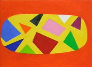 Andrew Masullo, 4561, 2006-7, oil paint on canvas, 18 x 24 inches (courtesy Feat