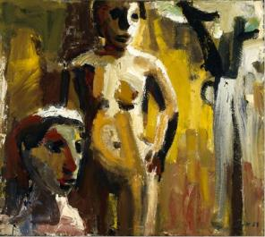David Park, Women in a Landscape, 1958, oil on canvas, 50 x 56 inches (courtesy