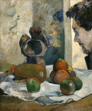 Paul Gauguin, Still Life with Profile of Laval, (1886), Collection of the Indian