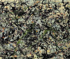(detail) Jackson Pollock, Lucifer, 1947, 267 x 104 cm (Stanford University Museu
