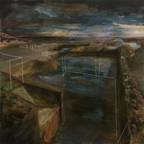 Matthew William Robinson, Untitled, 2011, mixed media, 30 x 30 inches (courtesy