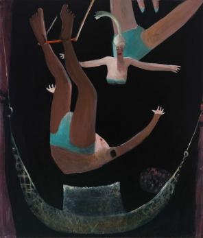 Kyle Staver, Trapeze, 2012, oil on canvas, 68 x 58 inches (courtesy of John Davi