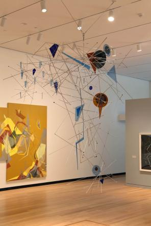 Installation view: Dannielle Tegeder: Painting in the Extended Field (photo by J