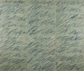 Cy Twombly, Roman Notes, 1970, detail