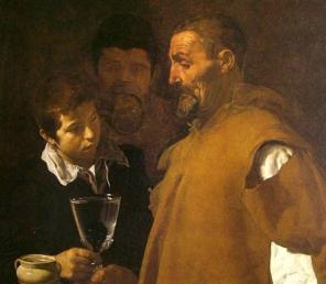 Velázquez, The Waterseller, 1618-22, detail