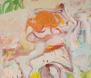 Willem de Kooning, Woman, 1969, oil on canvas, detail