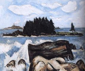 Marsden Hartley, Jotham's Island, oil, 1937, detail