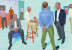 (detail) David Hockney, The Group V, 6-11 May, 2014 © David Hockney, courtesy of