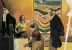 (detail) Neo Rauch, Hausmeister (courtesy of David Zwirner Gallery)