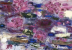 (detail) Joan Snyder, Burlap & Silk, 2014, oil, acrylic, paper mache, pastel, si