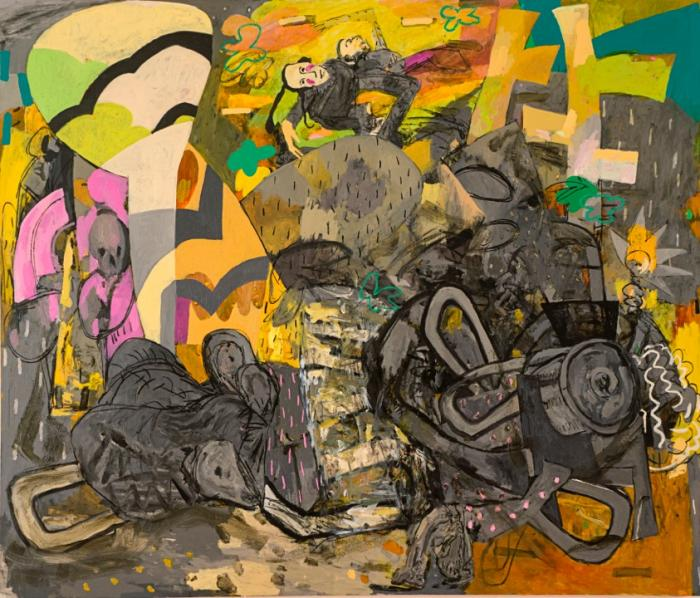 Alfredo Gisholt, Algunas bestias, oil on canvas, 72 x 84 inches, 2013 (courtesy