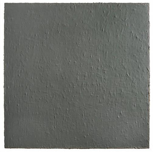 Karen Baumeister, Grays Over Blackened Blue, 2011, acrylic on canvas, 64 x 64 inches (courtesy of Kathryn Markel Fine Arts)