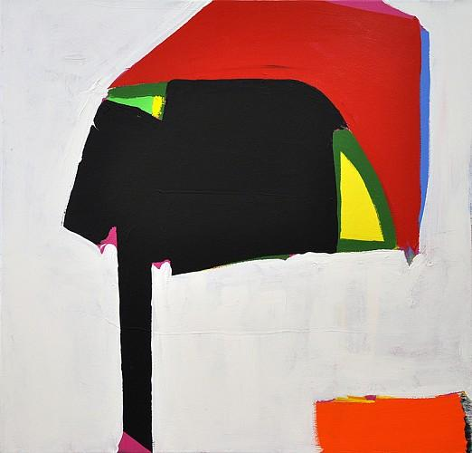 Paul Behnke, Robert Taylor's Helmet, 2013, acrylic on canvas, 48 x 50 inches (courtesy of Kathryn Markel Fine Arts)