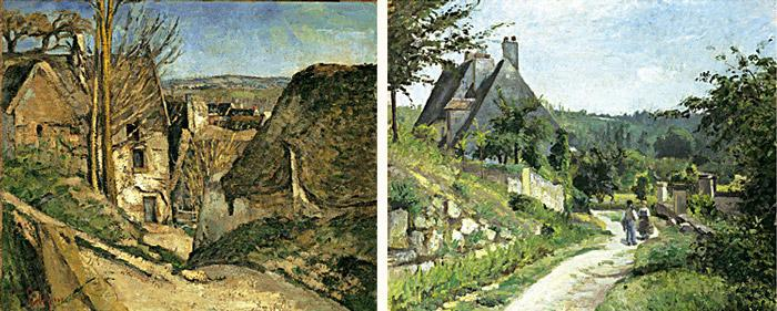Paul Cézanne, The House of the Hanged Man, Auvers-sur-Oise, 1873 / Pissarro, The