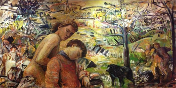 Jon Imber, The Nap, 1997, oil on canvas, 51 x 102 inches (courtesy of the artist