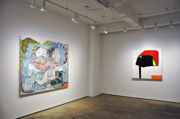 Installation view: (Karl Bielik and Paul Behnke) Eight Painters at Kathryn Markel Fine Arts, New York